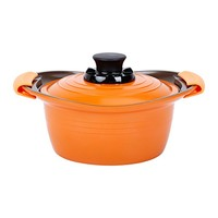 IRIS 爱丽思 MKS-P20 彩色汤锅 橙色  20cm