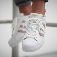 0点开始:adidas 阿迪达斯 Originals Superstar 女款运动鞋