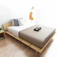 择木宜居 简约现代板式床+床垫 1.2*2m
