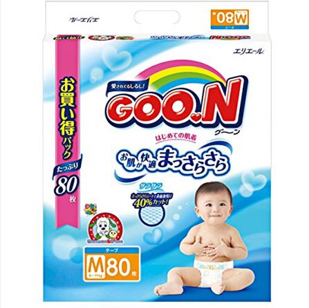 Goo.n大王 维E系列 婴儿纸尿裤 M80