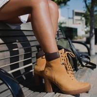 奇葩物:Timberland 添柏岚 CAMDALE FIELD 女士高跟大黄靴