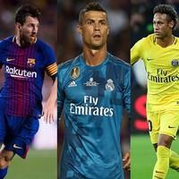 2017世界足球先生:梅西、C罗、内马尔领衔24人候选名单