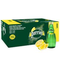 perrier 巴黎水 天然气泡矿泉水 原味/柠檬味 330ml*24瓶