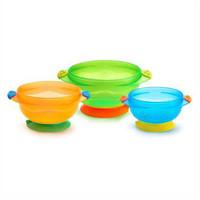 凑单品:Munchkin 麦肯奇 满趣健 婴儿防摔吸盘碗 3个装