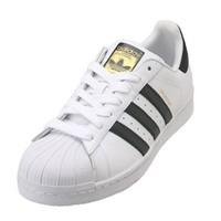 断码福利:adidas 阿迪达斯 三叶草 Superstar 经典黑白金标 运动板鞋
