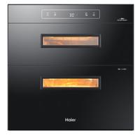 历史新低、京东PLUS会员:Haier 海尔 ZQD100F-E60S2(T)二星级 嵌入式消毒柜 +凑单品