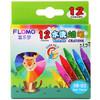 富乐梦 FLOMO 绘画工具 儿童玩具 12色-可水洗蜡笔 10-0812
