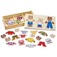 Melissa & Doug 美丽莎和豆豆 木质小熊家换装秀拼图