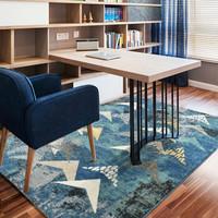 歷史低價:紳士狗 魚躍B-SKY 北歐現代簡約地毯 0.85米*1.2米 重約4.2斤(3件7折)