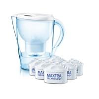 新补货:BRITA 碧然德 Marella 金典系列 净水壶 2.4L 白色(一壶六芯)