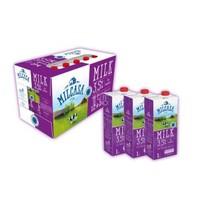 限华东:Milcasa 美莎 全脂牛奶 1L*12盒*2件+瑞士小姐 牛奶巧克力冲饮粉 207g*2件