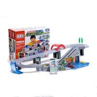TOMY多美卡合金车拼装轨道套装停车场儿童玩具车男孩玩具汽车模型车合金汽车 430834高速公路套装
