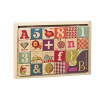 B.toys 木制彩绘积木24件套