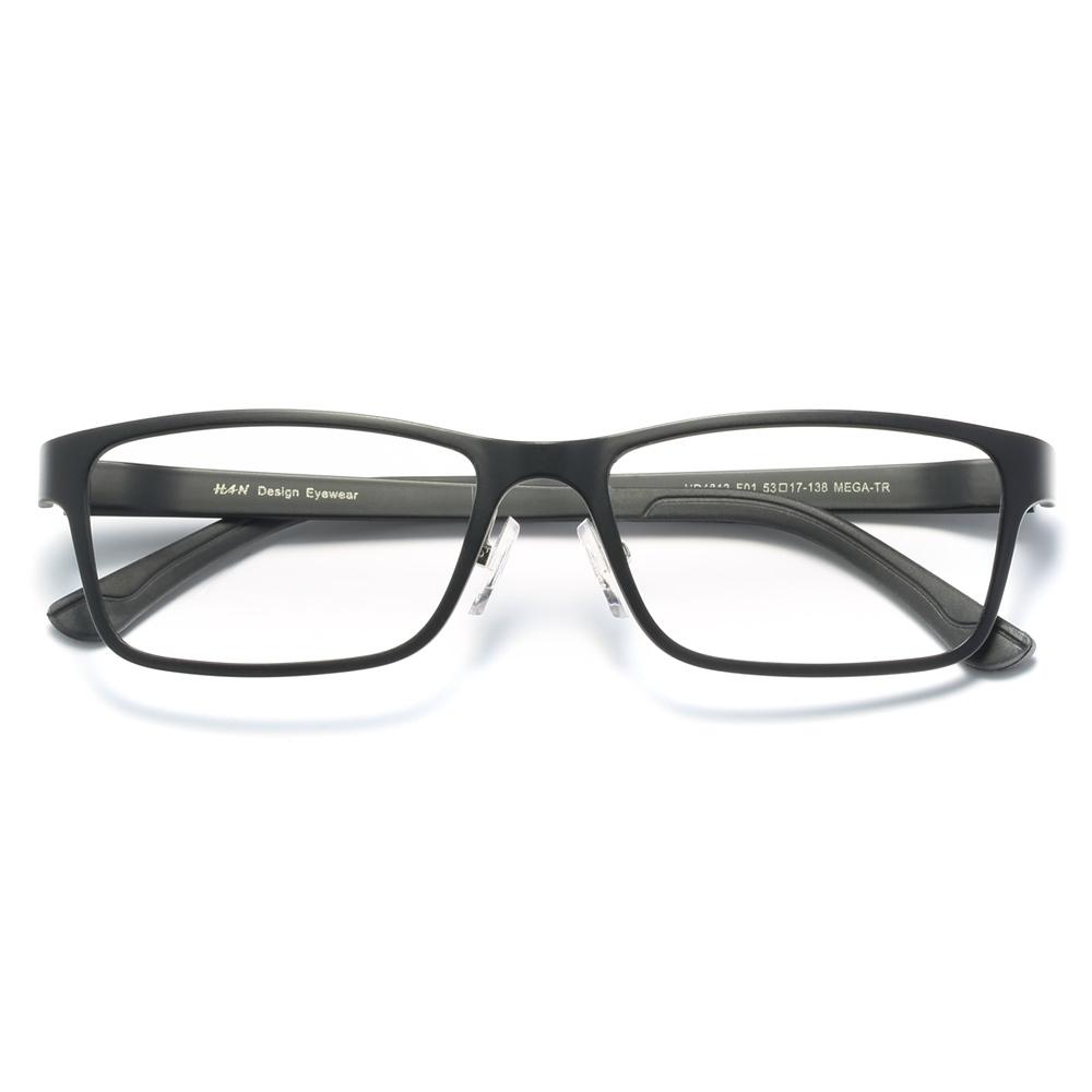 HAN HD4812 钨碳塑钢光学眼镜架+1.56防蓝光镜片