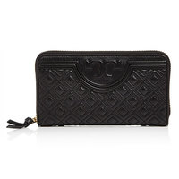 Tory Burch 汤丽柏琦 FLEMING QUILTED 32166  Black 长款钱包