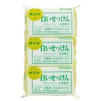MiYOSHi 无添加石碱白色香皂 3包