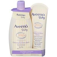 凑单品、中亚Prime会员:Aveeno 艾维诺 婴儿保湿舒缓护肤套装
