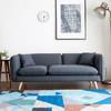 A家家具 ADS-025A 可拆洗小户型三人位沙发 灰黑色