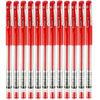 广博(GuangBo)12支装0.5mm经典款子弹头中性笔/签字笔/水笔 红色ZX9008R *31件