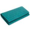 BOTTEGA VENETA 120697 V4651 4409 长款牛皮编织钱包 水绿色