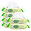 GL 格朗 婴儿手口湿巾带盖 珍珠纹湿纸巾(80抽*6包)