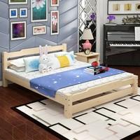 亿宸贵苏纯实木床 经济型简易木床1.8米/1.5米主卧双人床1米/1.2米出租房板床(1200mm*2000mm)