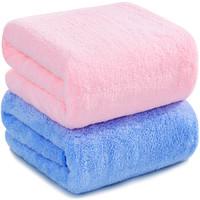 SANLI 三利 高梳纱柔软舒适浴巾2条装  70×140cm  *2件