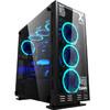 游戏悍将 镜.X次元台式主机箱大黑色(玻璃侧透/支持ATX/散热限高165mm/显卡限长400mm/支持水冷)