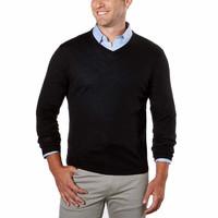 Calvin Klein 卡尔文·克莱 Merino wool男士V领羊毛衫