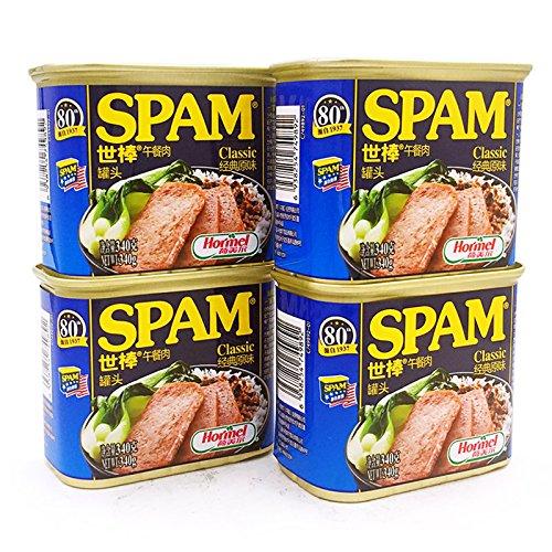 SPAM 世棒 经典午餐肉罐头 340g*4罐