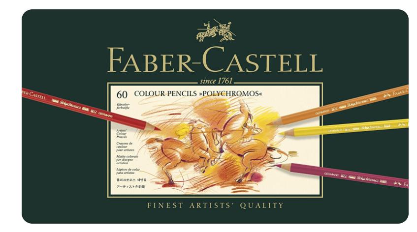 FABER-CASTELL 辉柏嘉 110060 绿铁盒艺术家 油性彩铅 60色