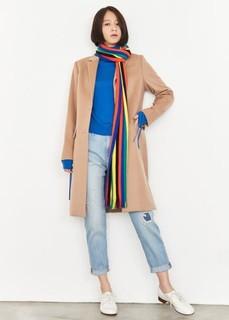 UNIQLO 优衣库 400732 女士羊毛羊绒混纺大衣