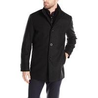 中亚Prime会员:KENNETH COLE New York Wool-Blend  男款羊毛混纺大衣
