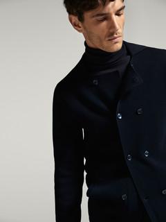 Massimo Dutti 00955401401 男款双排扣西装款针织外套