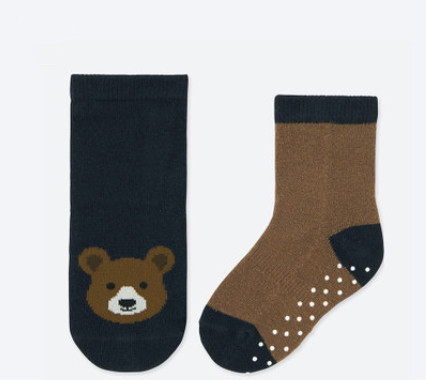 UNIQLO 优衣库 401684 婴幼儿袜子 2双装