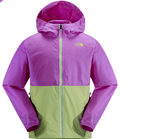 The North Face 北面 女童轻薄连帽防风外套
