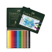 FABER-CASTELL 辉柏嘉 绿铁盒艺术家 24色水溶性彩铅笔