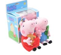 Peppa Pig小豬佩奇 佩奇喬治2只禮盒裝(小號19cm) *5件