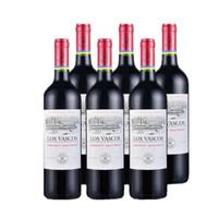 LOS VASCOS 拉菲巴斯克 卡本妮苏维翁红葡萄酒 750ml*6支