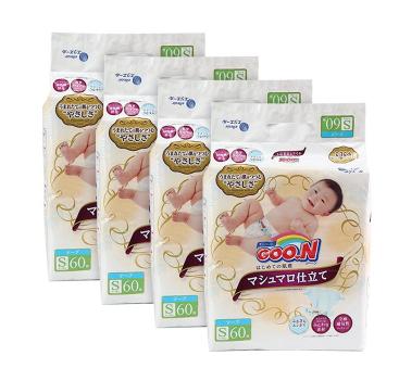 GOO.N 大王 棉花糖 婴儿纸尿裤  S60片 4包装