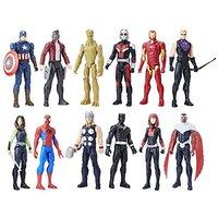 中亚Prime会员:Avengers 漫威 复仇者泰坦英雄系列12个装可动公仔