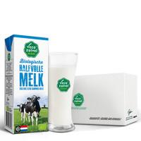 Vecozuivel 乐荷 有机部分脱脂纯牛奶 200ML*24盒