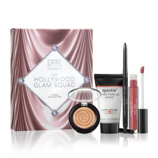 Laura Geller Beauty 华丽好莱坞四件套装 唇釉+眼线笔+修容+妆前乳28ml
