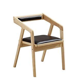 夏树 boy01 实木北欧餐椅 原木色 皮座垫
