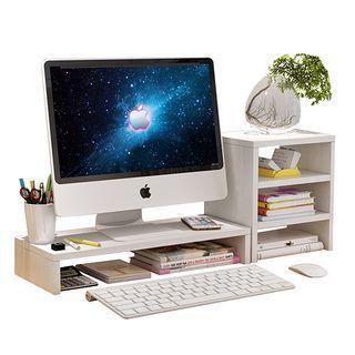 鸿金友 电脑显示器垫高置物架 (单层+3层书架)