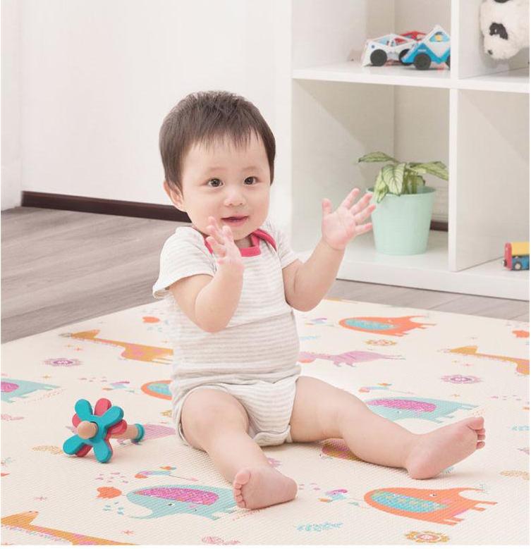 BEVA 贝瓦 PVC双面宝宝爬行垫 210*140*1.3cm