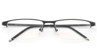 HAN HD49319  不锈钢 光学眼镜架+1.60翡翠绿膜非球面树脂镜片