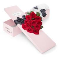 情人节礼物 : Roseonly 经典永续 朱砂玫瑰花 粉色特别版 11支