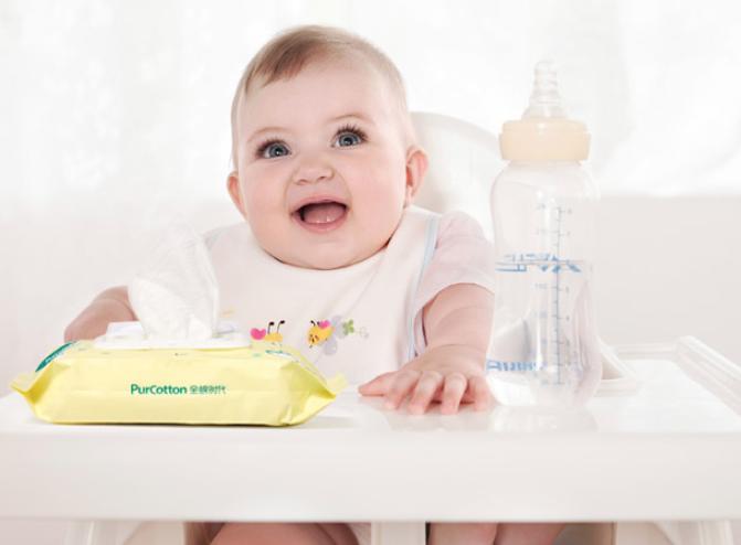 PurCotton 全棉时代 婴儿带盖湿巾 80片*8