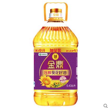 金鼎 压榨葵花籽油 5.436L